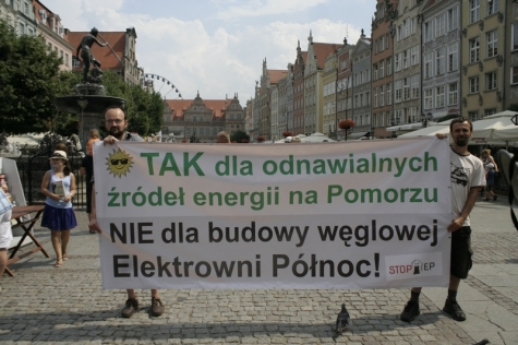 YES to renewables, NO to the Północ power plant – street actions in Gdańsk, Malbork and Tczew